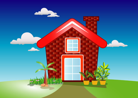immovable property: Home and Garden Illustration