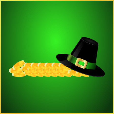 Postcard Hat and Gold Coin Vector