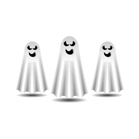 Spooky Ghosts Vector