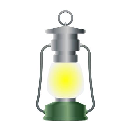 Vintage Camping Lantern Vector