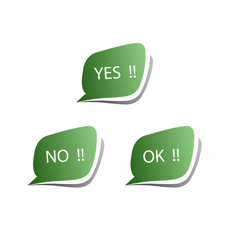 Collect Sticker with Yes, No and OK Check Mark Vector