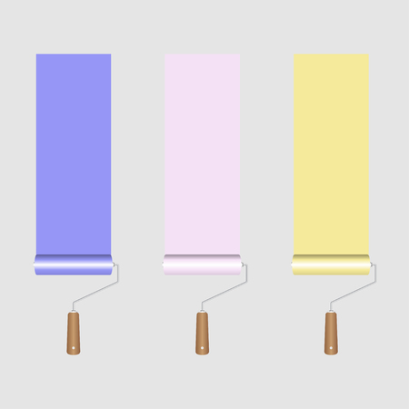 redecorate: Paint Roller Illustration