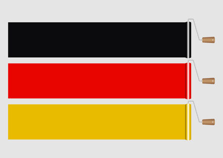 redecorate: Paint Roller-Germany Flag Illustration