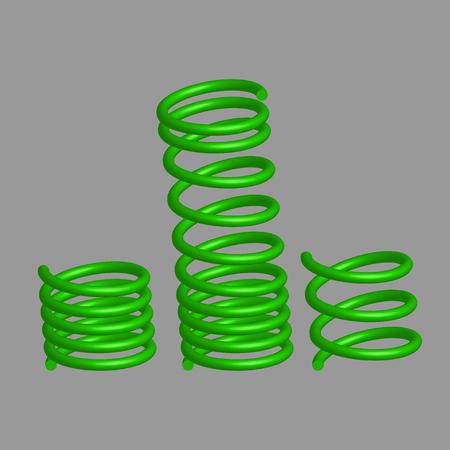 metal spring: Springs