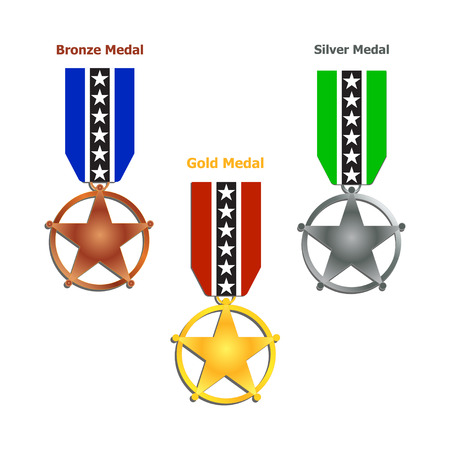 Award Medal illustrations Vector