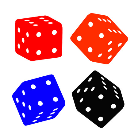 Dice illustrations Vector