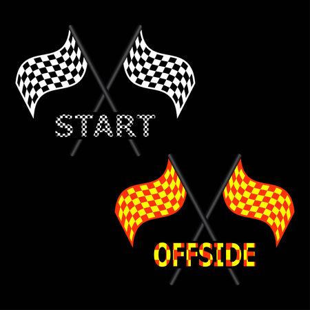 offside: Race Flag and Offside Flag illustrations