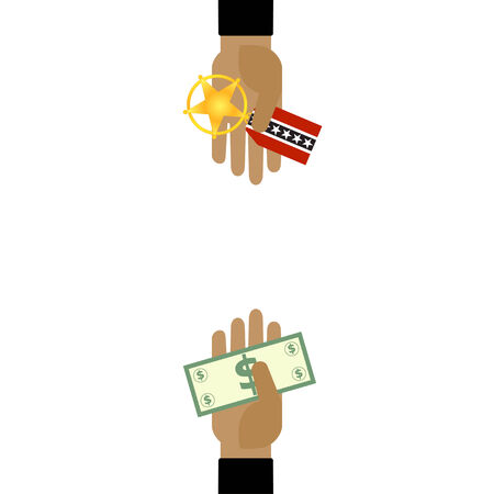 Hand with Dollar and award medal Vector