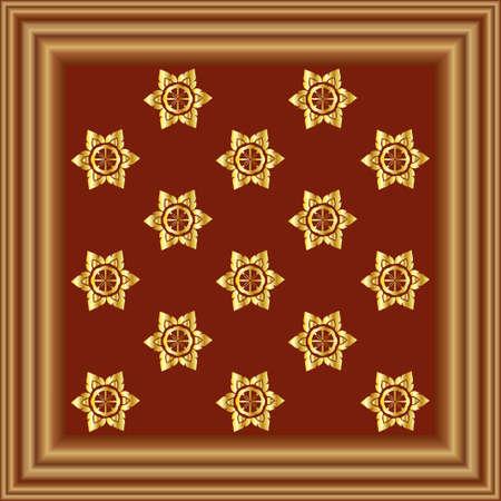 zypresse: Cypress Wood Frame Illustration