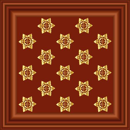 mahogany: Mahogany Wood Frame Illustration