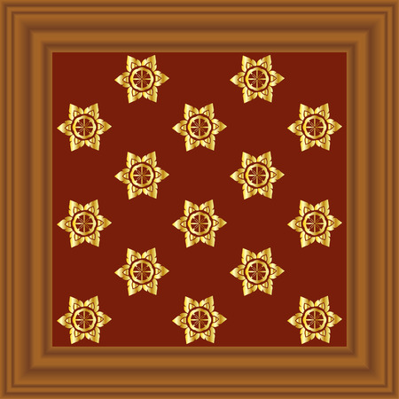pecan: Pecan Wood Frame Illustration