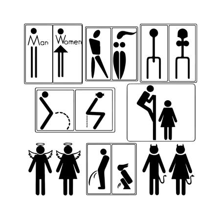 restroom sign: Toilet Sign Illustration