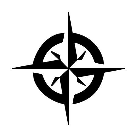 Compass symbol Illustration