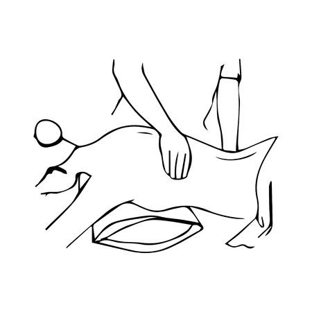 Massage symbol Illustration