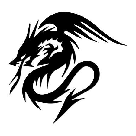 Dragon silhouette Vector