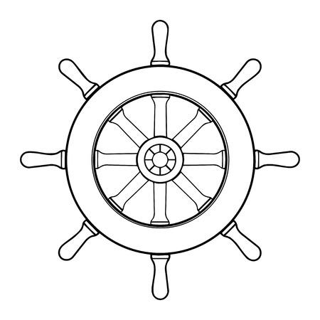 Steering wheel ship Illustration