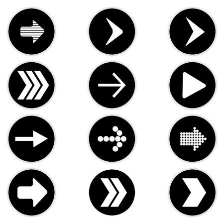 Arrow icon set. Vector Vector
