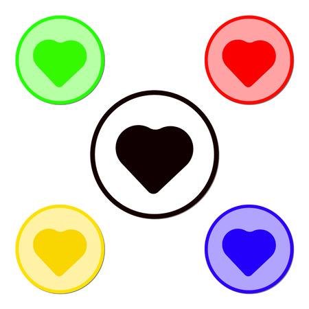 Heart Icon Set Vector Vector