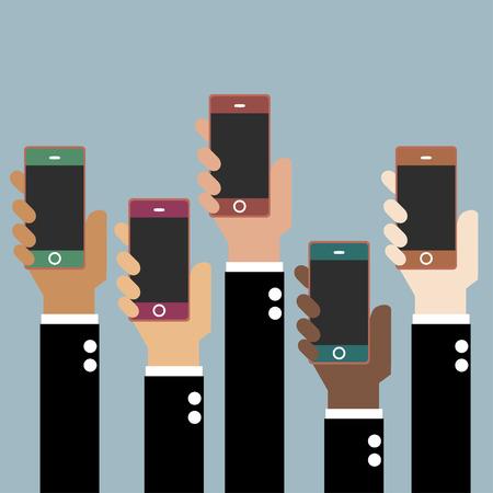 smart phone hand: Hand with Smart phone