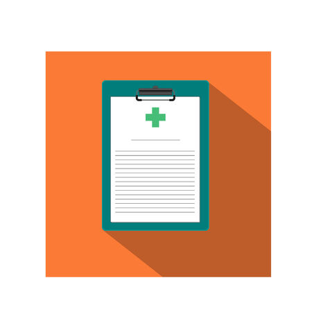 medical record: Medical Record Clipboard