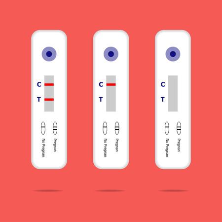 prueba de embarazo: Prueba del embarazo Vectores