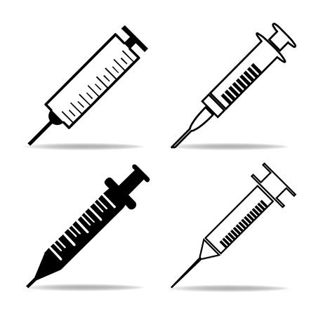 hypodermic needle: syringe Illustration