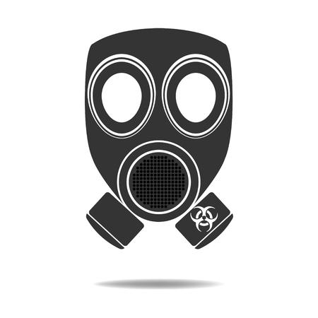 chemical warfare: Gas Mask with Biohazard