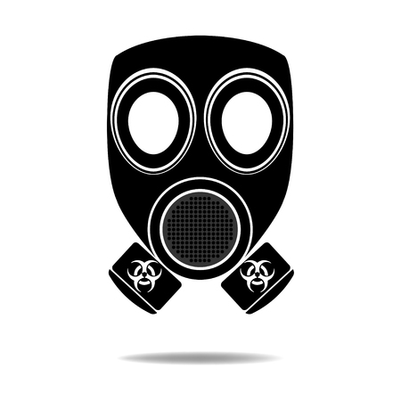 Gas Mask with Biohazard Vector