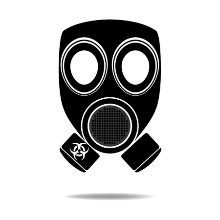 gas mask danger sign: Gas Mask with Biohazard