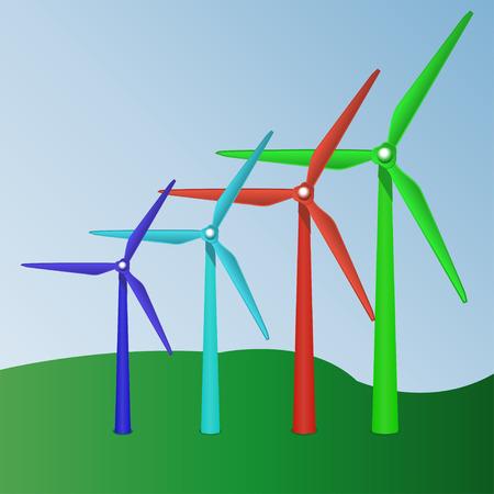 wind turbine: Turbine �olienne Illustration