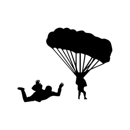 parachutist: parachute