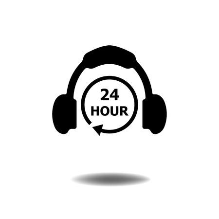24 hour: 24 Hour ICON Illustration