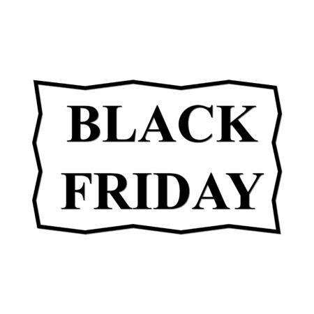 Black Friday Label Vector