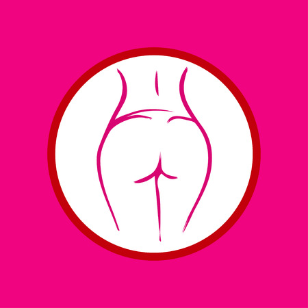Sexy women\'s bottom Çizim