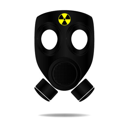 radioactive: Gas Mask with Radioactive Illustration