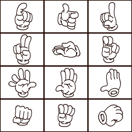 hand with different gestures Vector
