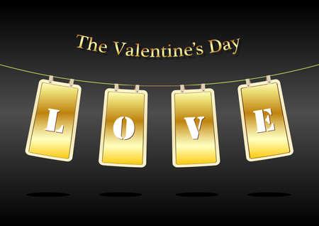 Valentine Hanging Label Vector