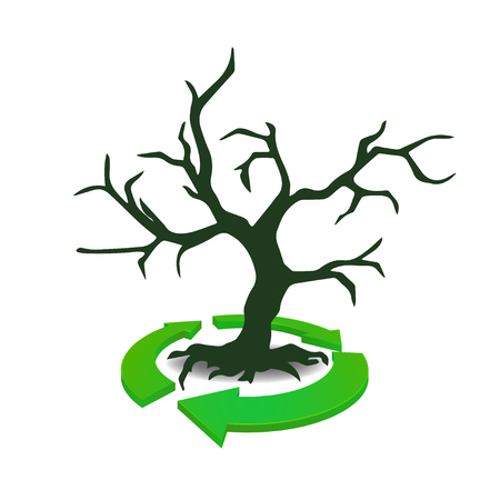 recycles: Recycles icon with Tree
