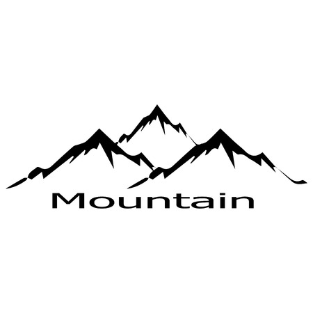 snow mountains: Mountain logo