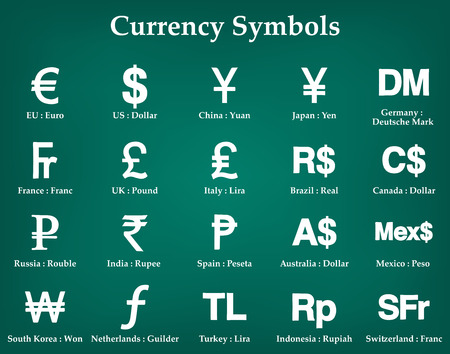 currency symbols: currency symbols