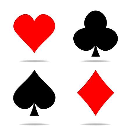 Set of vector playing card symbols