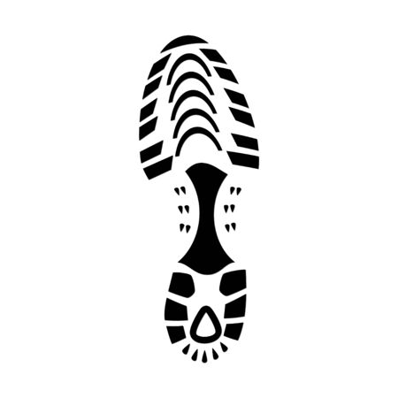 running shoe: Foot Print