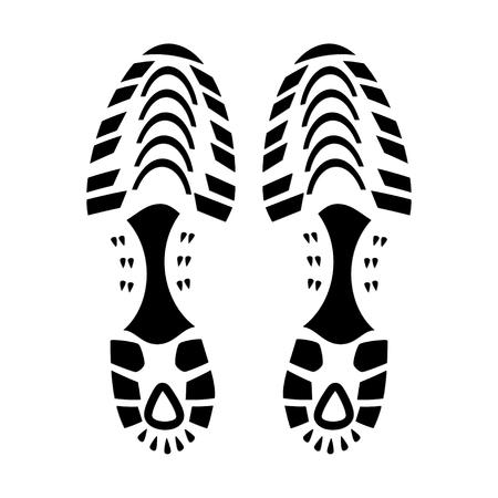 trail running: Foot Print