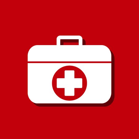 first aid box: First AID box icon Illustration