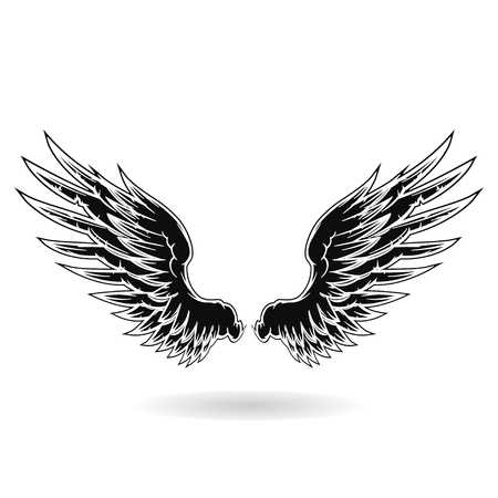 engel tattoo: Wing  Illustration