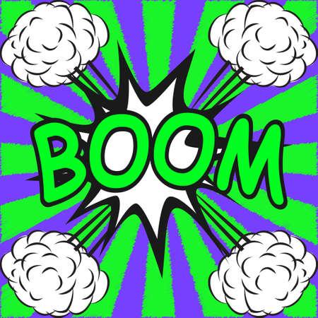 BOOM ! Comic speech bubbles in pop art style Vector