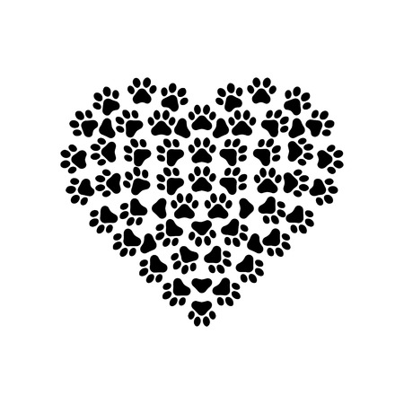 Paw Prints with Heart