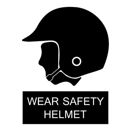 Draag Safety Helmet Sign Stock Illustratie