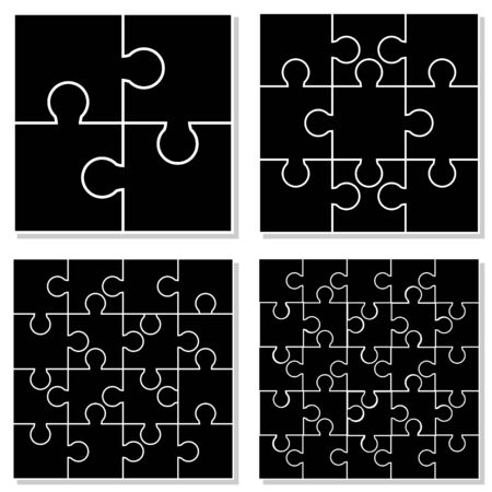 jigsaw puzzle pieces: Jigsaw Puzzle Pieces Set