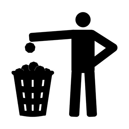 litter: Litter sign Illustration